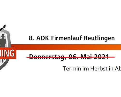 Firmenlauf Reutlingen 2021 wird verschoben