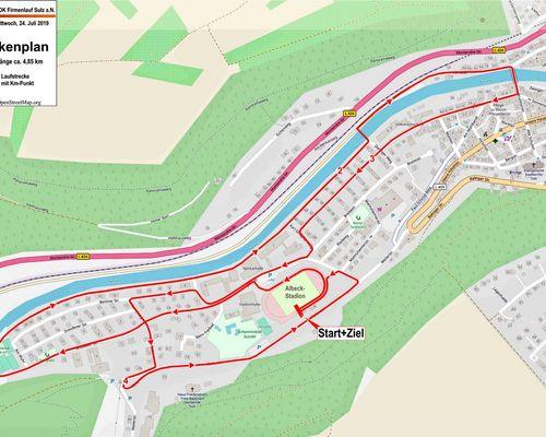 Streckenplan Sulz