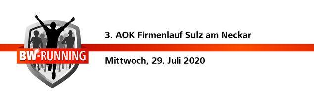 3. AOK Firmenlauf Sulz am Mittwoch, 29. Juli 2020 - Start: 18.30 Uhr - Albeck-Stadion